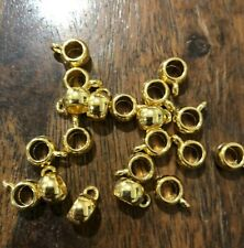 20 Gold large hole pendant charm bails jewellery findings 9 x 6 mm Aussie stock!
