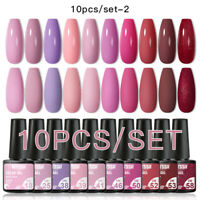 10Pcs Mtssii Gel Nail Set Gel Nail Polish Kit Soak Off Nail Art Gel UV LED