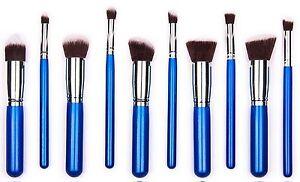 30 SETS (300) Makeup Tool Brush Brushes Powder Eyeshadow Blush kit Blue/Silver