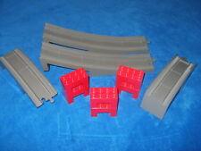 Lego Duplo Eisenbahn Brücke alt dunkel grau Rot 6392 6393 6394 2738 1 Meter