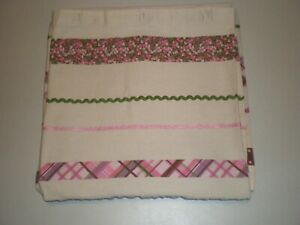 Target Shower Curtain Cottage Country Teens Vintage Fun Plaids Gingham Ribbon
