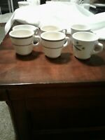 Vintage 6 Homer Laughlin China Coffee Mugs Cups Heavy Restaurant Very Nice cond.