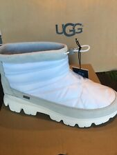 UGG CENTARA WATERPROOF WHT QUILTED SNOW ANKLE BOOTS BOOTIES SIZE 9.5