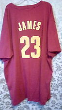 Mens Big & Tall size 3XL Red Cleveland Cavaliers James 23 T-Shirt by Majestic