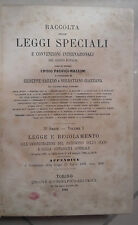 RACCOLTA DELLE LEGGI SPECIALI E CONVENZIONI INTERNAZIONALI 1886