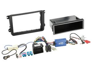2-DIN Autoradio Einbauset mit Ablagefach und Lenkradfernbedienung Adapter passen
