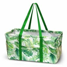 Utility Wireframe Shoulder Tote Bag For Travel Laundry Grocery Shopping Beach