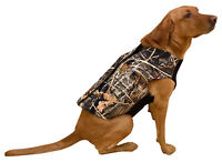 Nitehawk Hunting Dog Vest, Neoprene Camouflage Dog Coat with Full Zip Closure