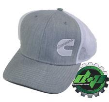 Dodge Cummins trucker hat ball richardson Heather Grey white mesh snap back