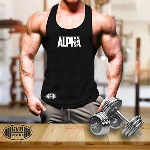 Alpha Vest Gym Clothing Bodybuilding Training Workout Exercise MMA Men Tank Top