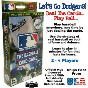 TDC Games MLB Los Angeles Dodgers The Baseball Game 56-Card Deck Dodger Stadium