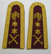Epaulette Nigerian Maroon Eagle 2 stars Crossed Swords