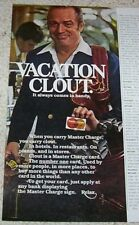 1978 vintage ad -Master Charge credit card- vacation clout Guy Print Advertising