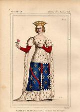 COSTUME DE LA FRANCE XVe siècle /  MARIE DE BERRY Comtesse de Clermont