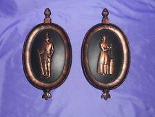 Vtg Homco Home Interior Dart Coppercraft Colonial Plaques #4777 Antiqued Copper