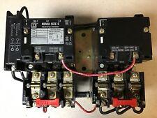 Square D 8810 Sbo2 Size 0 Reversing Motor Starter With 120 Volt Coils