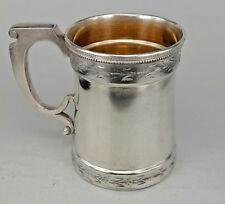 USA American Sterling Silver Tankard or doublé intérieur vers 1890/1900