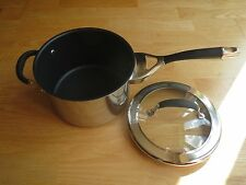 Circulon Steel Elite 20cm Covered Saucepan with Helper Handle and Glass Lid