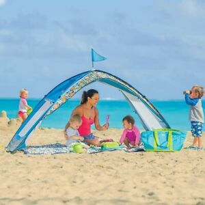 One Step Ahead SUN SMARTIES Baby-Kids Pop-Up Beach-Travel Tent-CABANA NICE!