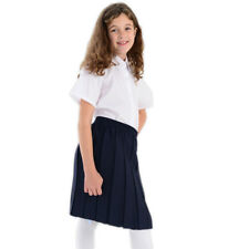 Girls School Uniform Box Pleat Skirt ages 2 to 16 years Black Grey Navy
