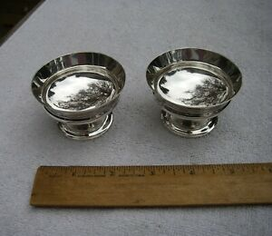 PAIR Early WHITING Sterling PEDESTAL SALT CELLARS-#42-NO MONO-NR