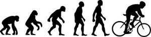 Evolution of Cycling sticker - road bike, bicycle, car