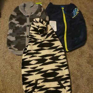 Top Paw Dog  Winter Fleece Sweater Coat Hoodie Sz Large.  Nwt lot of 3