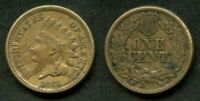 #03) Rare 1860 Indian Head Small Cent Nicely toned XF
