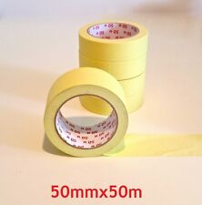 Kreppband Malerkrepp Krepp Klebeband Abdeckband Abklebeband 50mx50mm 105my 60°