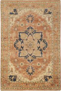 Surya Hand Made Wool Rust Beige 2x3 Persien Area Rug - Approx 2' x 3'