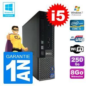 Mini PC Dell 7010 Ultra USFF Core I5-2400 8Go Disque 250Go Wifi W7