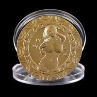 Gold Sexy Women Souvenir Coin Commemorative Challenge Coin Art Collection GVUS