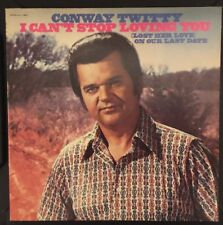 """CONWAY TWITTY -(LP)- I CAN'T STOP LOVING YOU  - """"WHITE LIGHTNING"""" - DECCA - 1972"""