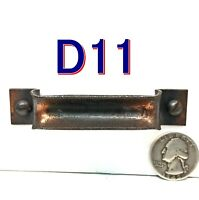 """Pair 3.5"""" Copper/Steel National Mfg DRAWER HANDLE Pull File Cabinet Hardware D11"""