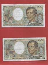 Lot de 2 x 200 FRANCS MONTESQUIEU de  1987 ALPHABETS   T.049  T.050