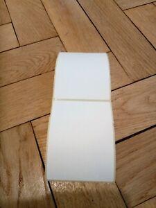 "75 Large Blank Sticky Address Labels. Postage Parcel Stickers 100 x 75mm. 4 X 3"""