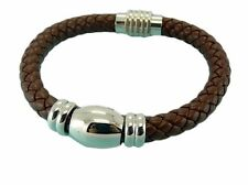 Leather Bracelet Stainless Steel Magnetic Clasp 8MM Premium Quality Range LB61