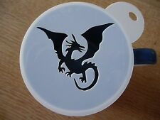 Laser cut winged dragon coffee and craft stencil