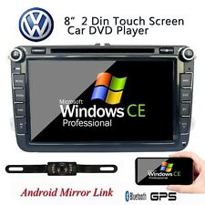 Free Camera 8''2DIN Car Radio DVD Player GPS Stereo for VW MK5 Golf Passat Jetta