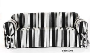 100% Cotton Stripe Sofa  in 5 COLORS