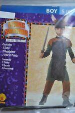 NEW! VIKING WARRIOR  CHILD COSTUME, TUNIC/HEADPIECE/PANTS, BOY-SIZE: SMALL (6)
