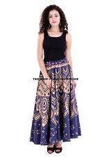 Hippie Bohemian Festival Indian Ethnic Jaipuri Ombre Mandala Print Wrap Skirt