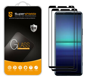 2X Supershieldz Full Cover Tempered Glass Screen Protector for Sony Xperia 5 II