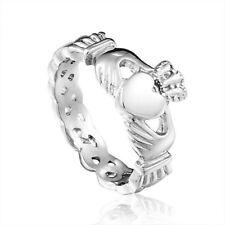 Irish Claddagh Ring For Women Hand Love Heart Crown Wedding Engagement 6, 7 + 8