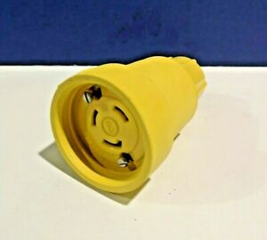 Woodhead 29W08 Yellow Watertight Female Connector 30A 250V 3P 3W NEW Imperfect