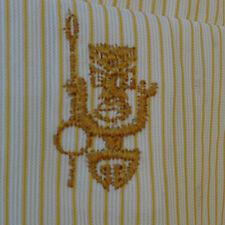 Vintage 60s 70s IOLANI Striped Tiki Warrior Hawaiian Shirt Size S