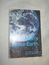Man's Finite Earth Edited by Russell O. Utgard, Garry D. McKennzie  (1974, PB