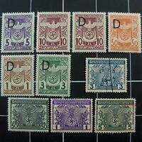 German court revenue stamps-MNH-WW2 Germany-Nazi occupied Poland-General Govt-GG