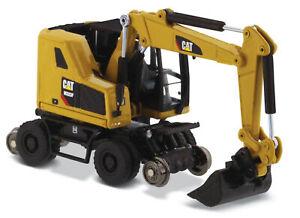 Diecast Masters 85656 Cat M323F Railroad Wheeled Excavator Cat Yellow 1/87 Scale