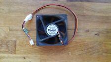 Zalman 8cm case fan, p/n PS80252H, MB connection, has noiseless resistor fitted